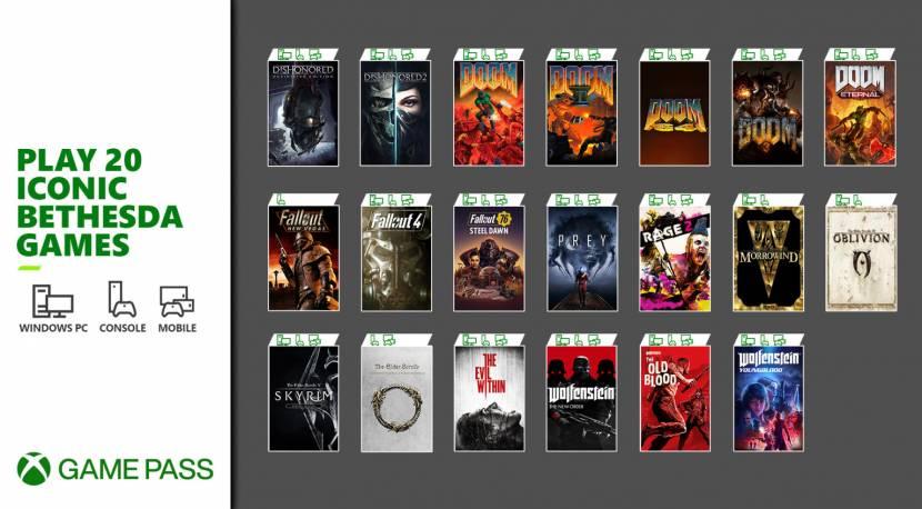 Deze 20 Bethesda-games zitten nu bij Xbox Game Pass