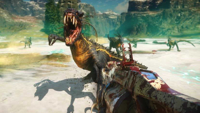 Bekijk 11 minuten gameplay van Second Extinction, waarin je als team dino's afknalt