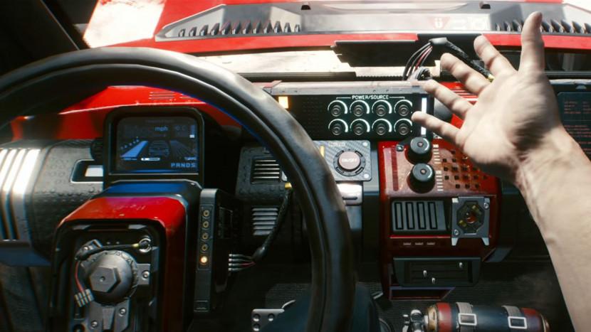 Cyberpunk 2077 toont snelle auto's en fancy looks