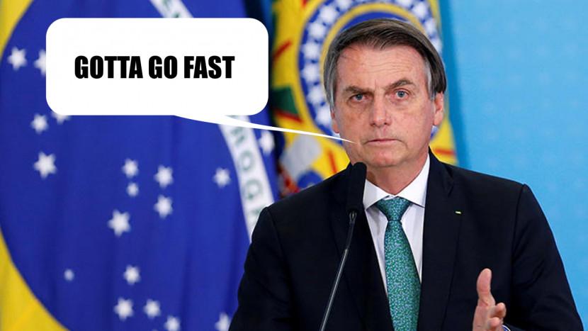 De president van Brazilië is (weer) Sonic muziek aan het gebruiken voor zijn propaganda