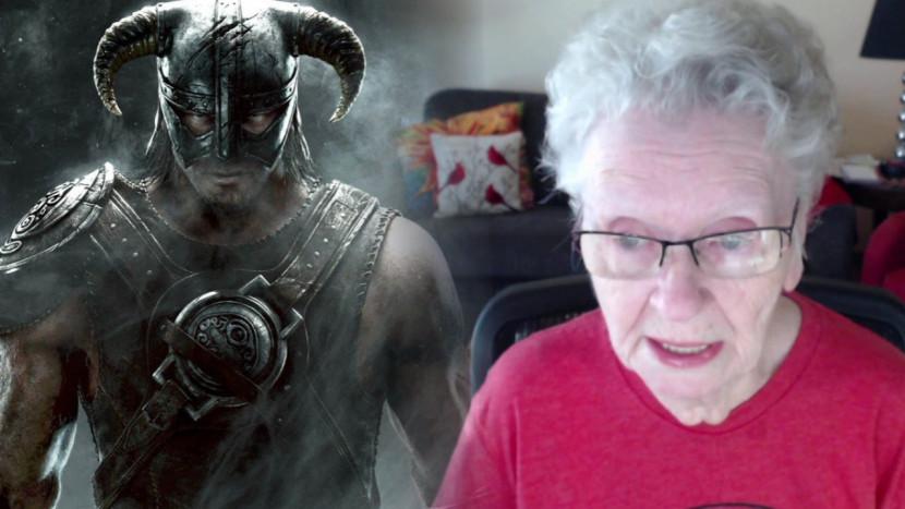 De Skyrim oma van YouTube houdt het even voor bekeken