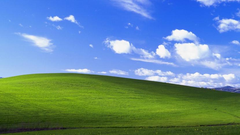 De Windows XP wallpaper zit in Microsoft Flight Simulator