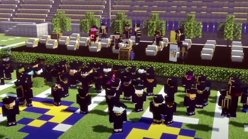 Deze studenten studeerden af via officiële ceremonie in Minecraft
