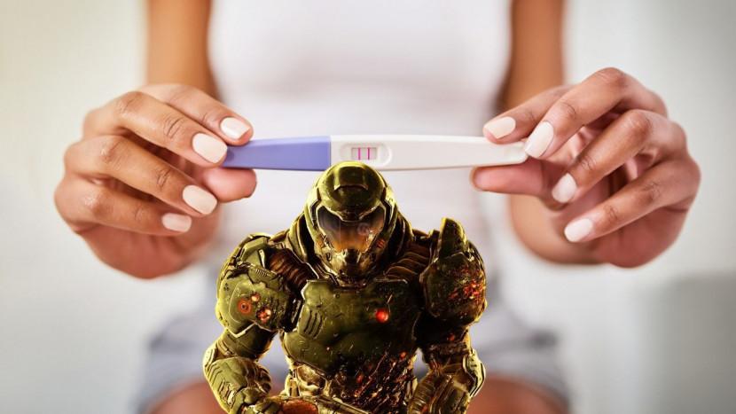 Doom is speelbaar op een ... zwangerschapstest