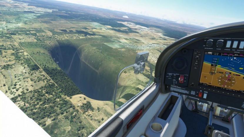 Er zit een gigantisch verdwijngat in Microsoft Flight Simulator