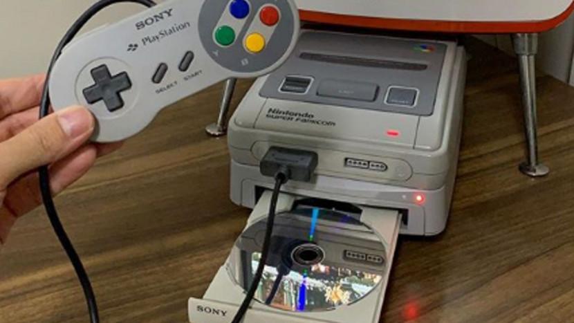 Fan bouwt zijn eigen SNES x PS1 console en daar hangt een leuke geschiedenis aan vast