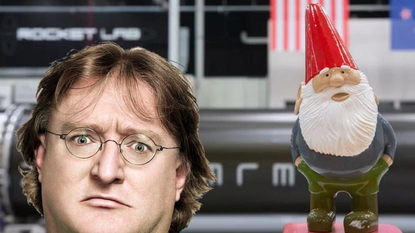 Half-Life easter egg wordt werkelijkheid: Gabe Newell schiet kabouter de ruimte in