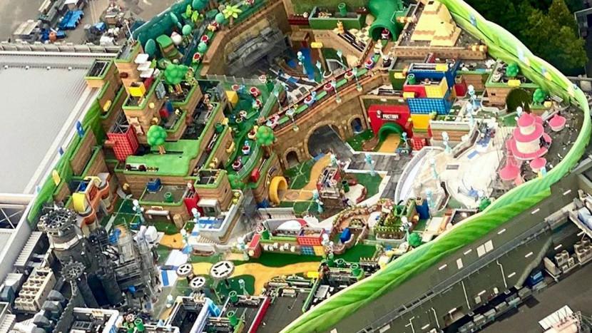In beeld: het Nintendo pretpark vanuit de lucht