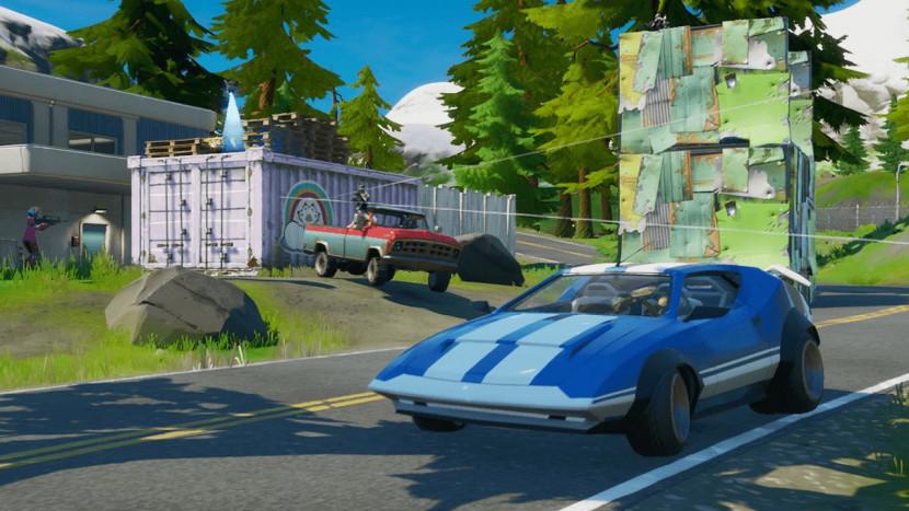 In Fortnite kan je vanaf deze week eindelijk met auto's rondrijden
