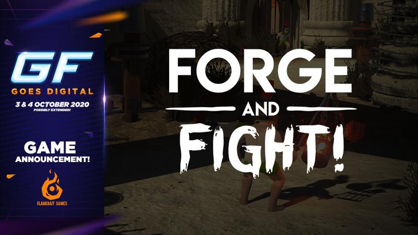 Maak je eigen wapens in Forge and Fight! tijdens GameForce Goes Digital