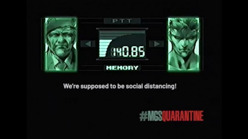 Metal Gear Solid voice actors promoten social distancing