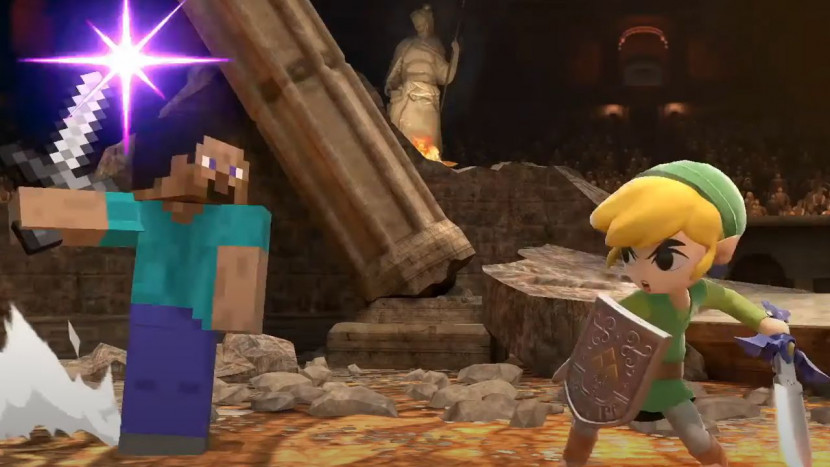 Minecraft dringt Super Smash Bros. Ultimate binnen