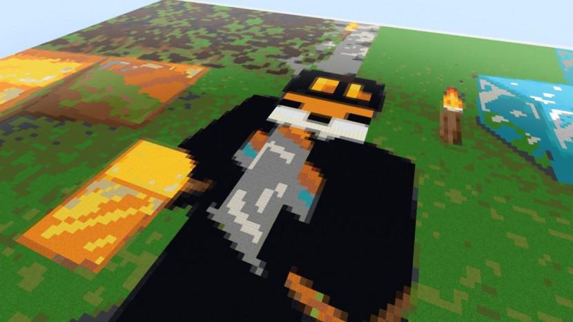 Minecraft spelen in Minecraft, dat ziet er zo uit
