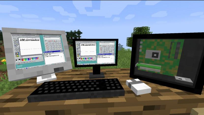 Mod laat je een pc bouwen in Minecraft (en ja, daar kan je Doom mee spelen)
