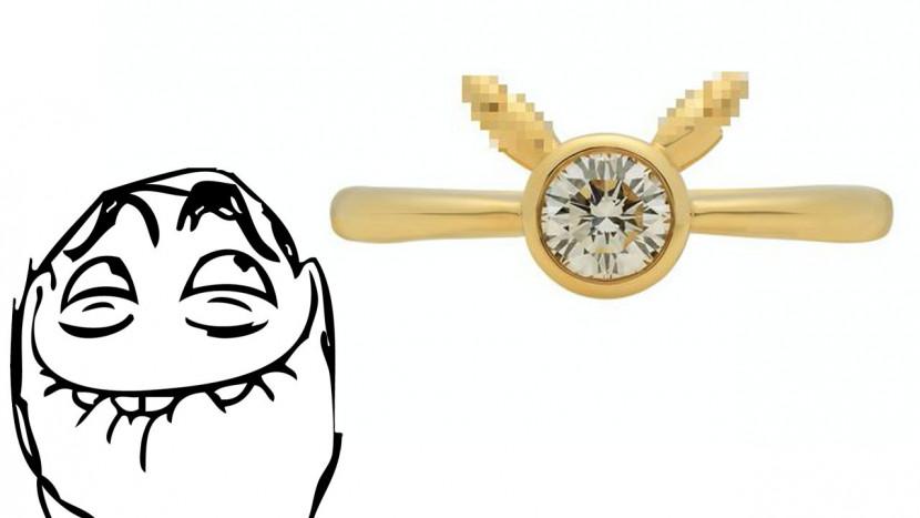Oeps: deze Pikachu verlovingsring van 2800 euro is een beetje NSFW