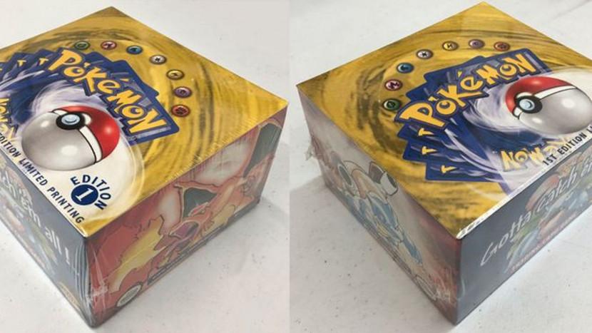 Ongeopende doos Pokémon kaarten uit 1999 verkocht voor 170.000 euro
