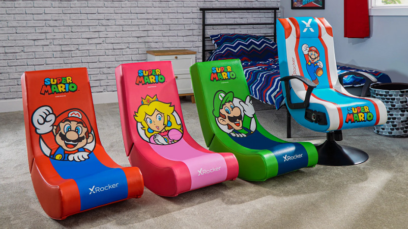 Plant je neer in deze Mario gaming chairs