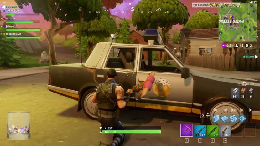 Politiewagens uit Fortnite verwijderd