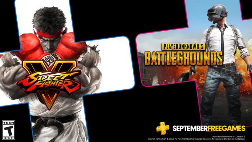 PUBG en Street Fighter 5 zijn de PlayStation Plus games voor september