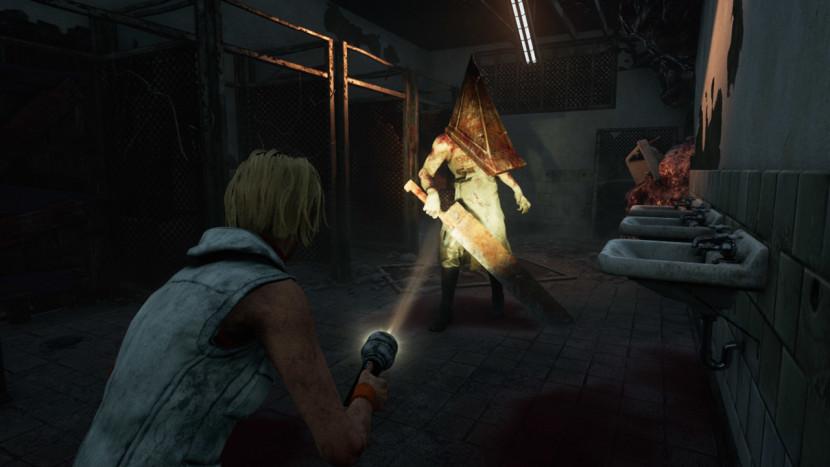 Pyramid Head van Silent Hill op weg naar Dead by Daylight