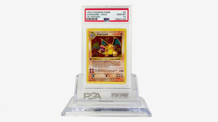 Record: ruim 185.000 euro betaald voor zeldzame Charizard Pokémon kaart