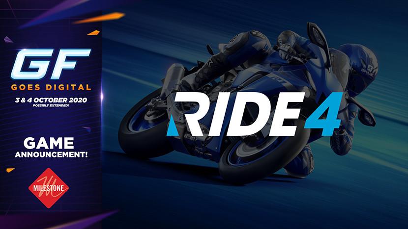 Scheur door de bochten in RIDE 4 tijdens GameForce Goes Digital