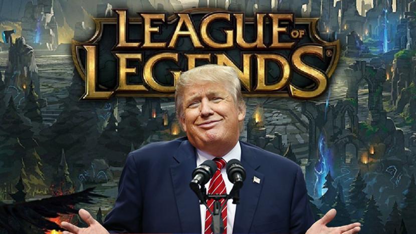 Trump richt pijlen op Riot Games en Epic Games
