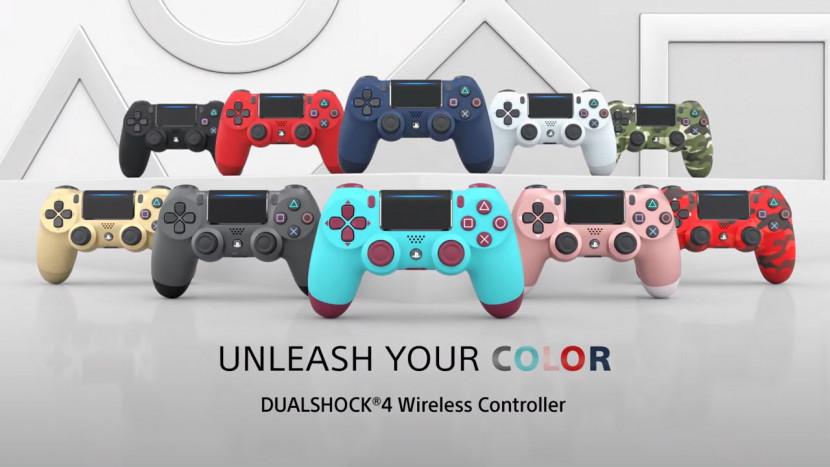 Verschillende kleurtjes voor DualShock 4 controller keren terug