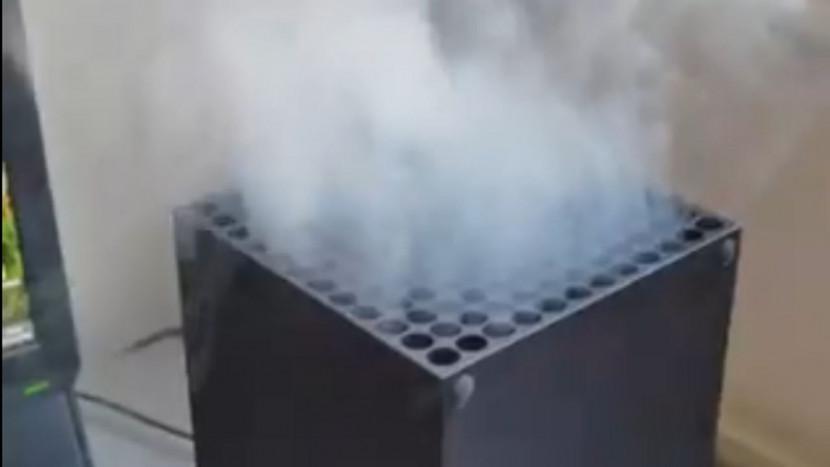Video van Xbox Series X waar rook uit komt gaat viraal, maar blijkt fake