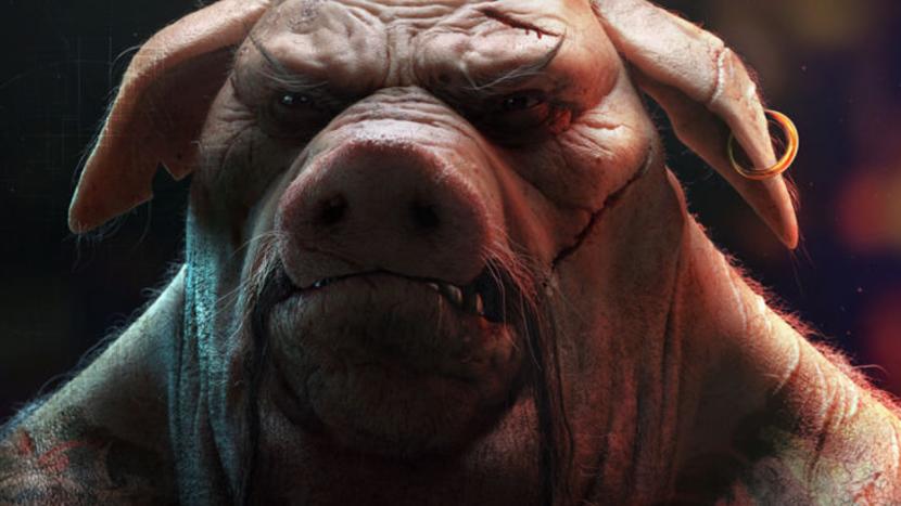 Vier varkentjes wassen op Pig Day