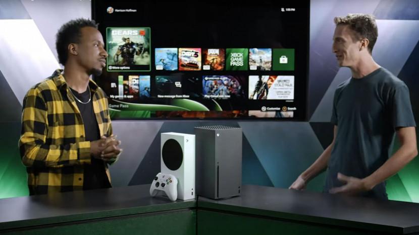 Xbox Series X video walkthrough toont user interface en meer