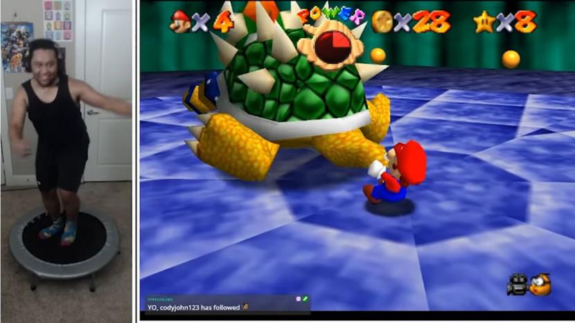 YouTuber gebruikt Kinect mod om Mario 64 te spelen met een trampoline