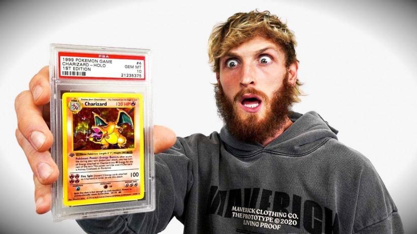 YouTuber Logan Paul betaalt 150.000 dollar voor zeldzame Pokémon kaart