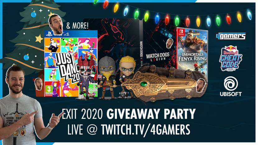 4Gamers LIVE | Exit 2020 Giveaway Party