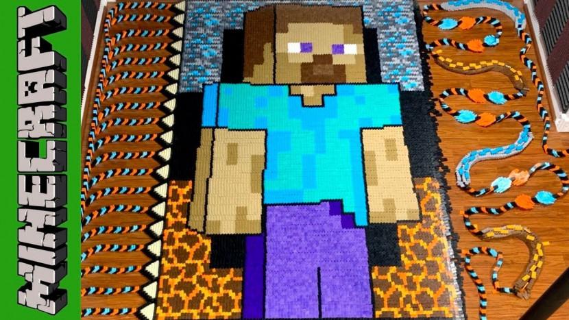 81.000 dominostenen brengen ode aan Minecraft