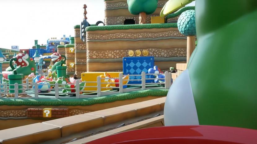 Alsof je er zelf bij bent: zo zien de attracties van het Nintendo pretpark eruit