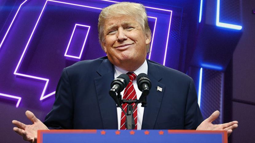 Donald Trump mag (voorlopig) niet meer streamen op Twitch