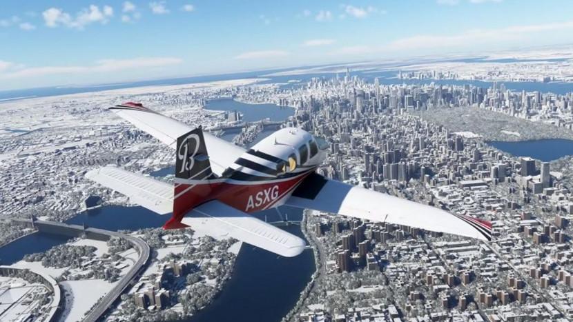 Een dikke laag sneeuw voor Microsoft Flight Simulator