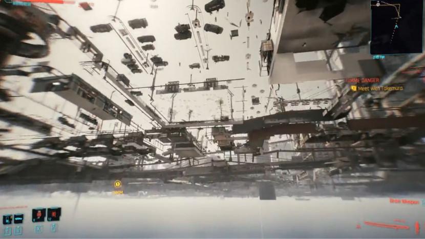 Er zit een gat in de wereld van Cyberpunk 2077 en daar kan je doorheen vallen