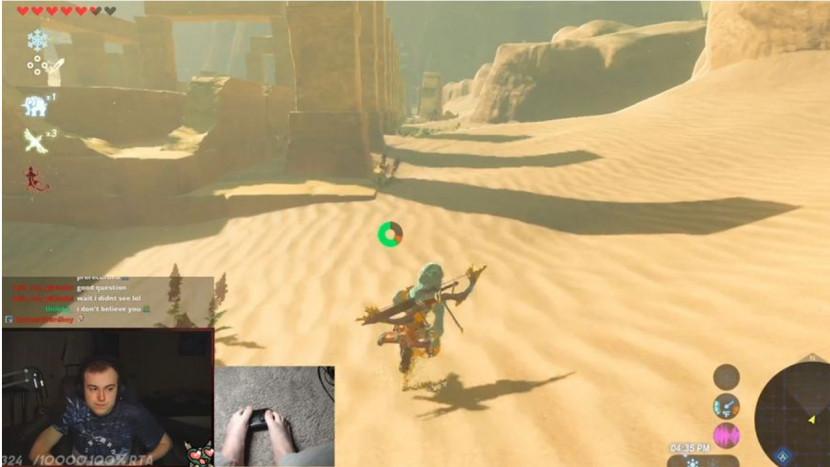 Fan speelt Zelda: Breath of the Wild uit met alleen maar zijn voeten