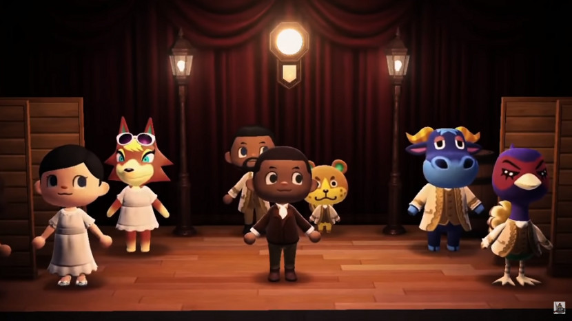 Iemand heeft musical Hamilton nagemaakt in Animal Crossing