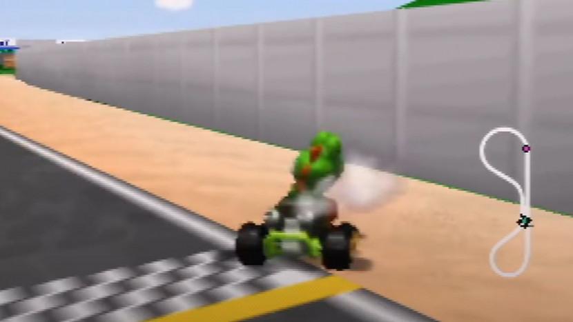 Mario Kart speedrunner vestigt nieuw record door hele tijd tegen muur te rijden