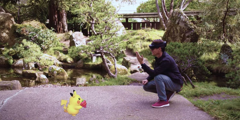 Microsoft toont Pokémon GO via Hololens