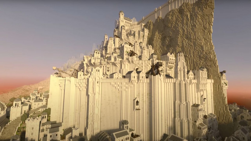Minecraft + Minas Tirith + ray-tracing