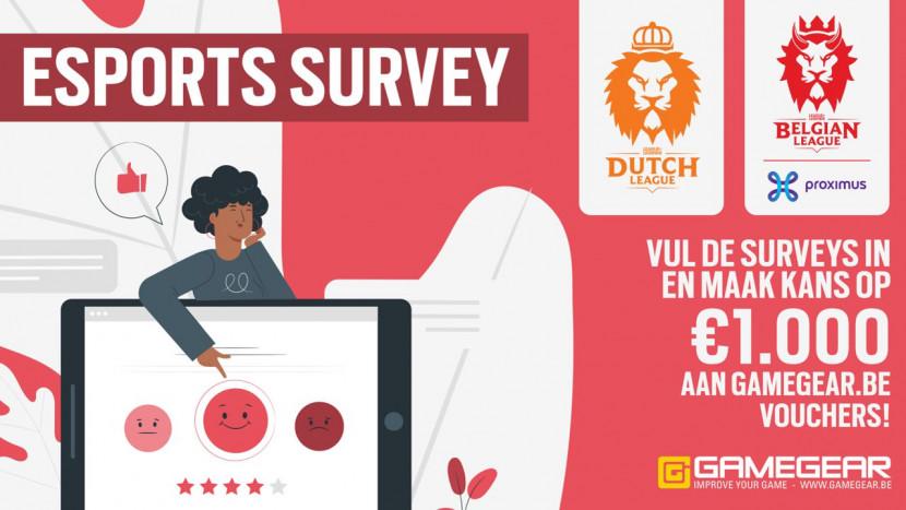 Neem deel aan onze esports enquête en maak kans op €1000 aan cadeaubonnen