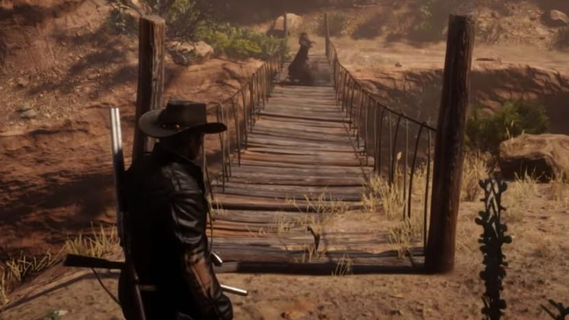 Red Dead Online heeft een spastische brug waarmee je naar Mexico kan vliegen