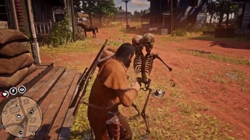 Spelers in Red Dead Online worden aangevallen door tweekoppige skeletten