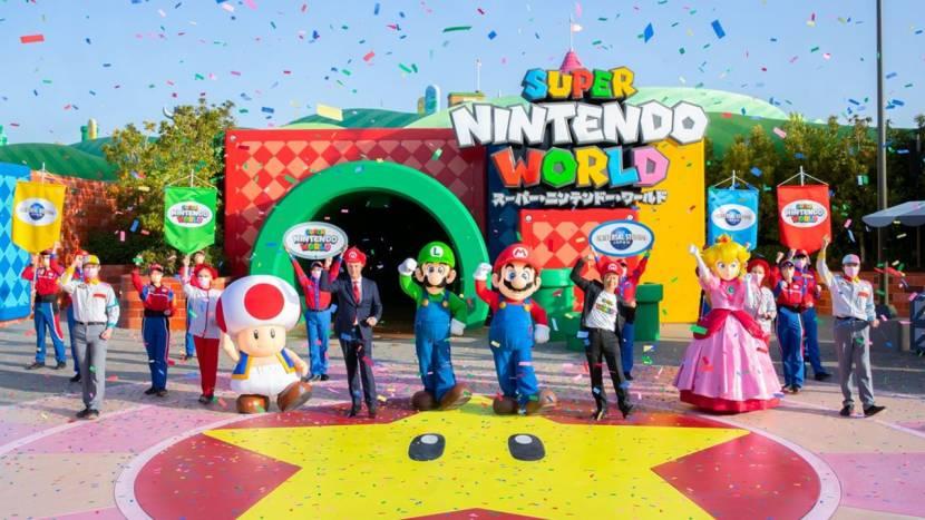 Het Nintendo pretpark is eindelijk geopend en dat ging er zo aan toe
