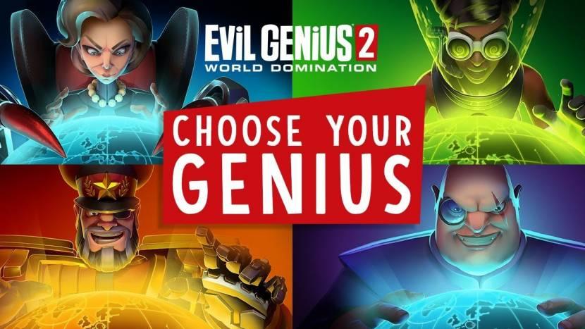Evil Genius 2 stelt 4 superschurken voor