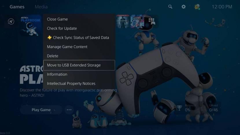 Eerste grote PS5 update laat je games opslaan via externe usb storage
